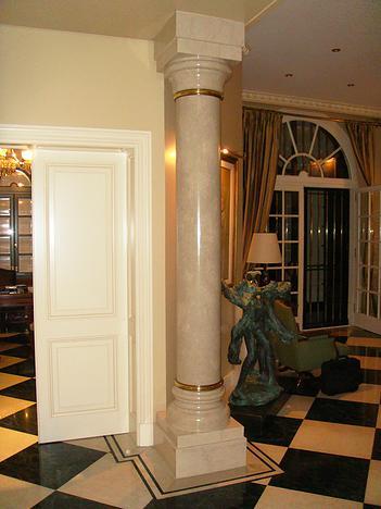Columna beige